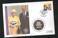2007 Diamond Wedding Coin CC - $1 Coin & Guernsey Pmk