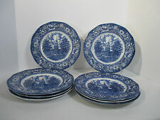 Liberty Blue Dinner Plates Ironstone Independence Hall Vtg Staffordshire Set 8 & Staffordshire Liberty Blue | eBay