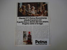 advertising Pubblicità 1983 AMARO PETRUS BOONEKAMP