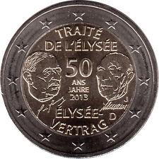2 EURO Germania 2013 - 2 euro 50° Anniversario Trattato dell'Eliseo, 5 zecche