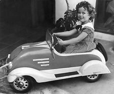 Shirley Temple Riding Pedal Car   8 x 10  Photograph