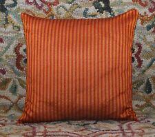 "Orange 16 "" Striped Dupioni Silk Pillow Cushion Cover Sofa Throw Bohemian Decor"