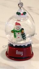 Personalized Snow Globe Ornament - Amy - FREE Shipping