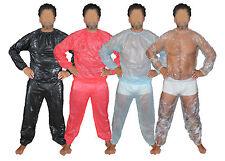super doux PVC Pyjama Couche-culotte Survêtement Combinaison pour sauna