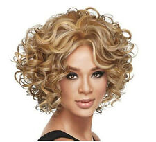 Natural  Women Fashion Short Curly Wavy Blonde Cosplay Party Hair Full Wig Wigs