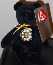 2018 NEW ~ NHL Ty Beanie Baby Hockey Bear ~ BOSTON BRUINS 8 Inch Size ~ IN HAND