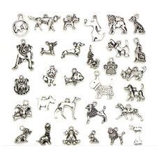 Mix Charms 30pcs/lot Vintage Silver Animal Dog Pendant DIY Jewelry M  YUWHUS