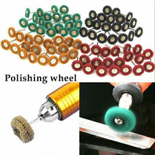 80Pcs 25mm Abrasive Grinder Wheel Buffing Polishing Grinding Dremel Rotary Tool