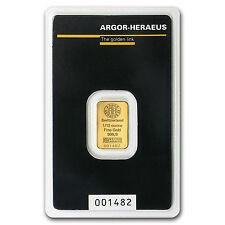 1/10 oz Gold Bar - Argor-Heraeus - SKU #92092