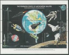 MICRONESIA - INTERNATIONAL SPACE ACHIEVEMENTS Sheet of 9 Stamps MNH