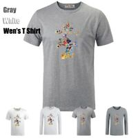 Cute Disney Mickey Mouse Graphic Long Short Sleeves Men's Boy's T-Shirt Tee Top