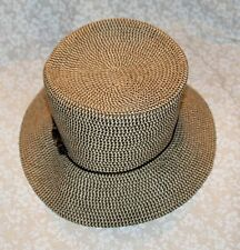 9618b7e6808 Croft   Barrow Women s Woven Bucket Hat Beaded Band Beige Tan Brown ...