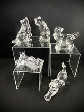 5 Lenox Crystal Cat Figurines Fancy Cat Collection Signed