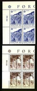 Faroe Islands (1987) Europa CEPT / Modern Architecture (MNH) Blocks of 4