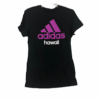Adidas Womens Black Cotton Designer Crew Neck The Go To Tee T-shirt Medium