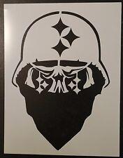 "Pittsburgh Steelers Skull Bandana Helmet 8.5"" x 11"" Stencil FAST FREE SHIPPING"