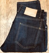 3SIXTEEN JEANS SIZE 33 X 37 STYLE: 140X SLIM TAPERED HEAVYWEIGHT BROWN WEFT