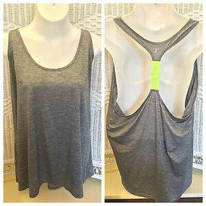 Old Navy Active Gray Racerback T-strap Athletic Tank Top, Womens Plus Size 4X