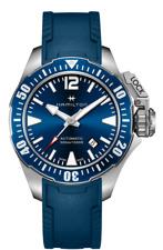 New Hamilton Khaki Navy Frogman Auto Blue Dial Rubber Band Men's Watch H77705345