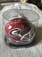 D'Andre Swift Autographed Georgia Bulldogs Mini Helmet Beckett COA Inscribed