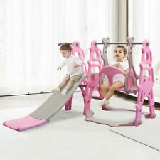 Toddler Indoor Outdoor Kids Swing Slide Set Climber Playground Baby Home Yard