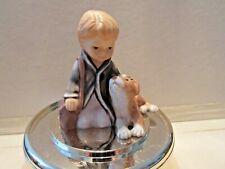 Goebel Boy With Dog Figurines Cake Topper Porcelain