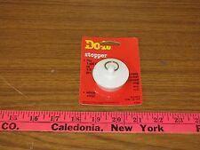 "Large Drain Stopper 1 5/8"" to 1 3/4"" Drain. White Vinyl"
