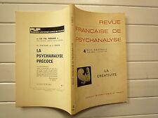 JUILLET 1972 N° 36 REVUE FRANCAISE DE PSYCHANALYSE CHEZ PUF GILLIBERT ETC