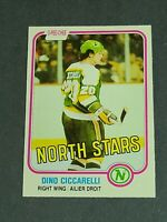 Dino Ciccarelli Rookie Minnesota North Stars 1981-82 O-Pee-Chee #161 NMmt Center