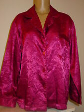 Victoria's Secret purple fuchia brocade floral sleep top shirt satin sissy-S-NWT