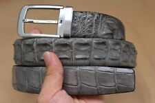 Gray Genuine CROCODILE Leather Skin MEN'S BELT - Without Jointed