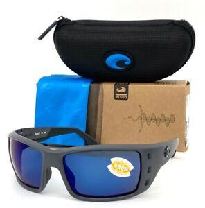 Costa Del Mar PERMIT Matte Gray / Blue Mirror 580P  62mm Polarized Sunglasses