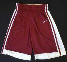 Nike Men's Varsity Basketball Shorts 639400 White Red Size L