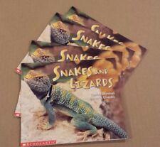 NICE Lot Set 4 Guided Reading Books Scholastic SNAKES & LIZARDS Moreton/Chanko