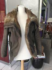 Parka veste manteau BEL AIR taille 1 soit 36/38/40 marron taupe kaki