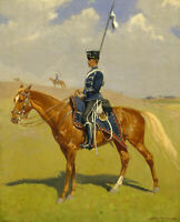 The Hussar Frederic Remington Wall Art Print Canvas Giclee Repro Poster Small