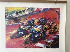 "Moto GP  Nicky Hayden Artwork Laguna Seca 2005.""They're Back"" w/ Valentino Rossi"