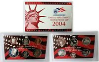 2004 UNITED STATES MINT SILVER PROOF SET W/COA, INCLUDES STATE QUARTERS!