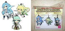 Sword Art Online II Rubber Strap Set Girl's Side Avatar Asuna Leafa Sinon New