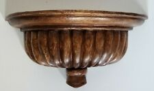 Decorative Solid Wood Wall Sconce Shelf
