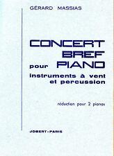 Gerard Massias CONCERT Bref pour Piano instruments a vent et percussion 1956