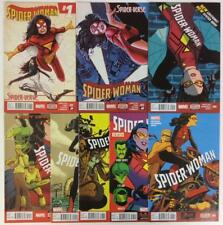 Spiderwoman #1 to #10 missing #3,4. (Marvel 2014) 8 x hi grade condition issues