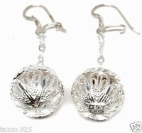 TAXCO MEXICAN STERLING SILVER FILIGREE SPHERE BALL FLORAL EARRINGS MEXICO