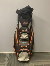 Titileist Cart 14 Way Lightweight Bag Black/Gray/Orange