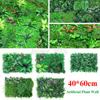 Artificial Plant Grass Wall Panels Hedge Fake Garden Mat Foliage Plastic 60X40CM