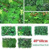 Artificial Plant Grass Wall Panels Hedge Fake Garden Mat Foliage Plastic 60X40CM