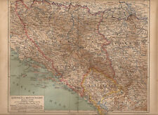 OLD MAP  BOSNIEN UND MONTENEGRO BOŚNIA CZARNOGÓRA SERBIA ROK 1885
