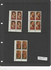 Canada - 1978 Christmas set blocks of 4 MNH postage stamps ref 25