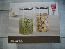 Zwilling Table Vorratsdosen Vorratsgläser 2er Set 1 Liter Art.-Nr. 39500-034