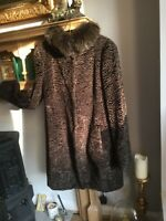 max mara coat size 14 Beautiful Condition Top Quality Fox Fur Collar Buy Now